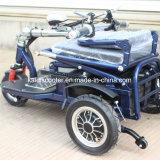 Ce elettrico pieghevole del motorino di mobilità del motociclo delle tre rotelle dell'adulto 350W