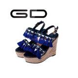 Gdshoeの赤いふさの靴革のふさは靴を詰め込む