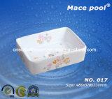 Bassin en céramique carré de style Six pour le marché de l'Asie (017)