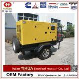 De mobiele Generator van de Aanhangwagen, 50kw/62.5kVA Weifang Tianhe Twee Diesel van Wielen de Stille Reeks van de Generator