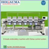 Holiauma 6のDahaoの最も新しい制御システムが付いているTシャツEmbroideの高速刺繍機械機能のためにコンピュータ化されるヘッド織物機械