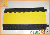Protetor de borracha do cabo do assoalho resistente de 5 canaletas para eventos