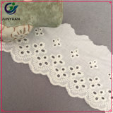 新しい刺繍の綿のレースの綿織物のレース