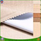 Tissu enduit imperméable à l'eau de rideau en arrêt total de franc de tissu de polyester tissé par textile pour le rideau prêt à l'emploi en guichet
