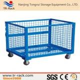 Contenitore accatastabile resistente della rete metallica per memoria del magazzino