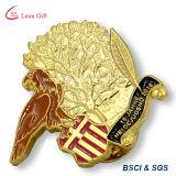Изготовленный на заказ Pin отворотом значка эмали металла золота