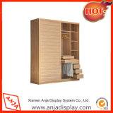Cabina de visualización de madera de la ropa del departamento