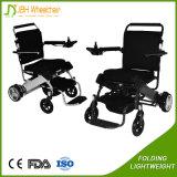 Fauteuil roulant électrique se pliant de pouvoir portatif pour soins de santé de vieux et de handicapés