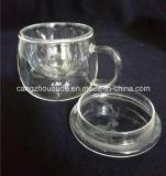 Taza de té del vidrio de Borosilicate del continente de China con la cubierta