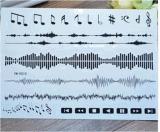 Etiquetas engomadas temporales impermeables del tatuaje de la música del diseño de moda del tótem