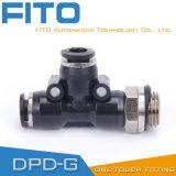 Accessorio per tubi pneumatico di modo di tipo tre di T per il collegamento veloce