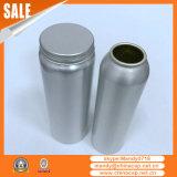 Garrafa de alumínio de prata de 150 ml com tampa de parafuso para cápsulas de cuidados de saúde