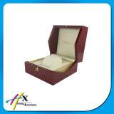 Caixa de armazenamento de madeira do relógio do grande tamanho vermelho feito sob encomenda
