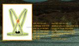 Gilet r3fléchissant élastique du sport DEL de série pour la sûreté courante