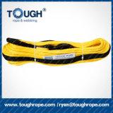 cuerda del torno de 10m m /20000lb UHMWPE con el gancho de leva, dedal, funda protectora como conjunto completo