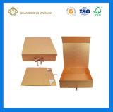 Роскошное высокое качество складывая лоснистую серебряную коробку подарка бумаги картона с печатание логоса (автоматическая складывая бумажная коробка подарка)