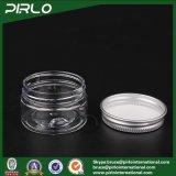 transparente glas-Haut-Sorgfalt-Sahne-Gesichtsschablonen-Plastikbehälter des Haustier-20g Plastikmit Aluminiumkappen-kosmetischem Sahneplastikglas