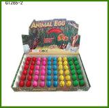 60PCS nos ovos de um dinossauro pequenos da água do tamanho da caixa que crescem o brinquedo dos ovos