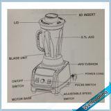 Misturador durável do processador de alimento