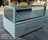 Showcase do gabinete/vara de indicador dos Popsicles/congeladores de Gelato gelado (CE)
