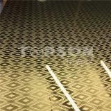 Plaque d'or enduite d'acier inoxydable de miroir de bonne couleur des prix pour la décoration d'hôtel