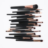 20PCS Private Label Makeup Brush mit Black Handle Gold Ferrule