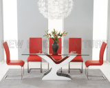 普及したシンプルな設計のゆとりガラスフィリピン様式のダイニングテーブル(NK-DT223-2)