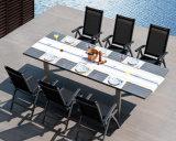6人は余暇の家具の中庭のプラスチック木製の椅子表セットを黒くする