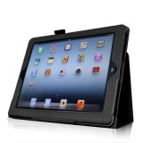 Cubierta de cuero en folio popular al por mayor de la caja de la PU de Fintie para el iPad 4