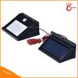 Свет крытого солнечного домашнего света обеспеченностью датчика движения света 10 СИД солнечного PIR напольный с экстренными длинними шнурами выдвижения
