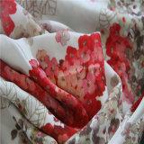 Impression de Digitals pour le Crepe floral avec la soie lourde