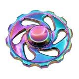 多彩な虹の花の紡績工のFigetの紡績工手指