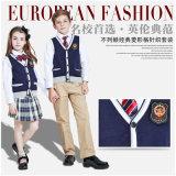 Disegni primari dell'uniforme scolastico di stile del maglione britannico del cardigan