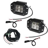 Off-Road Vehicle Auto Part Ce RoHS IP67 12V étanche à l'eau 3 pouces 12W Spot Flood Beam LED Headlight de travail