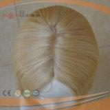 Peluca rubia de la tapa de seda del pelo humano de alta calidad
