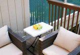 HDPE Personal&#160 da oferta especial; Adjustable Table Ao ar livre-Branco