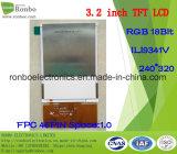3.2 panneau de TFT LCD de pouce 240*320, RVB 18bit, Ili9341V, FPC 46pin