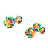 Regenbogen-buntes Gummispielzeug mit Bell für Hunde