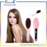 Redresseur de cheveu avec le balai aucun peigne de redresseur de cheveu d'affichage à cristaux liquides Digital de dommages de cheveu