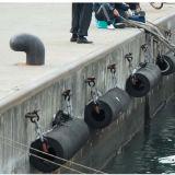 Defensa marina de goma cilíndrica