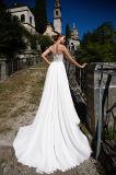 Верхняя часть лианы отклоняет платья венчания Aline разнослоистые