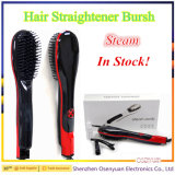 工場卸し売り毛のストレートナのブラシのLCD表示が付いている速い毛のストレートナの櫛