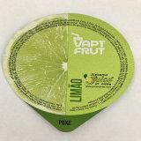 Copo plástico do Yogurt com a tampa da folha de alumínio