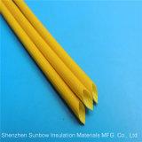 UL 방열 섬유유리 땋는 실리콘 수지 입히는 전기 Sleevings 1.2kv