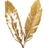 Etiquetas engomadas de oro del tatuaje del arte de las etiquetas engomadas del tatuaje de la pluma
