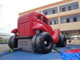 Bouncer di salto della grande automobile gonfiabile del cranio con la trasparenza