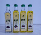 250ml, 500ml, 750ml, petróleo 1000ml verde-oliva redondo que cozinha os frascos de vidro com cor desobstruída verde ambarina