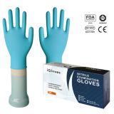 Freies Beispielblaues Puder-freie Wegwerfnitril-Prüfungs-Handschuhe (CER)