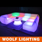 Sofá de controle remoto iluminado sofá do diodo emissor de luz de Opertaed da bateria do diodo emissor de luz de Changingled da cor do diodo emissor de luz