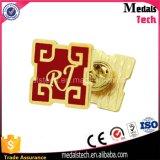 Изготовленный на заказ металл промотирования производит Pin отворотом золота серебряной покрынный латунью